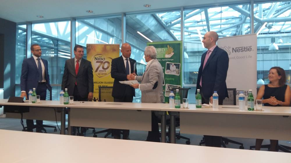 FBRN and Nestle Middle East cooperation protocol, August 2015